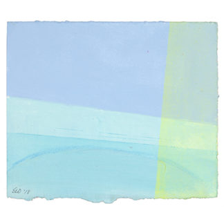 Small color field on paper